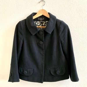 H&M Canvas Swing Coat Sz 4 Black